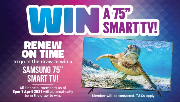 Renew On Time & You Could Win a Smart TV