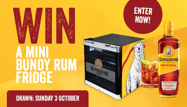 Win a Mini Bundy Rum Fridge